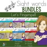 ASL Sight Word Curriculum- Let's Fingerspell Bundle