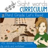 ASL Sight Word Curriculum- Let's Read (Third Grade)
