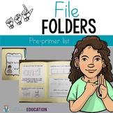 ASL Sight Word File Folder Set One