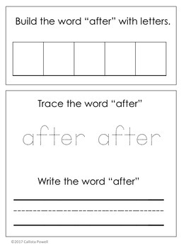 ASL Sight Word File Folder Set Three