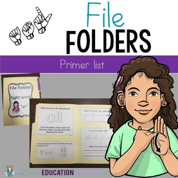 ASL Sight Word File Folder Set Two