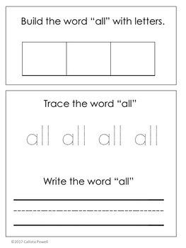 ASL Sight Word File Folder Set Two