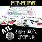 ASL Sight Word Graph It PREPRIMER