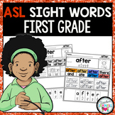 ASL American Sign Language Sight Word Practice Packet (Fir