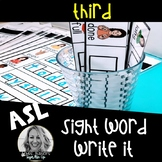 ASL Sight Word WRITE IT Center Third Grade