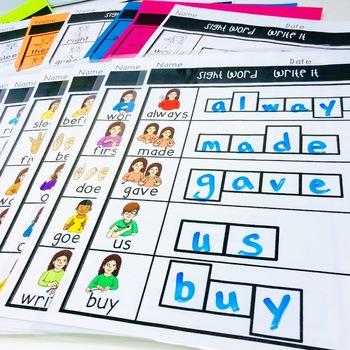 ASL Sight Word WRITE IT Second Grade