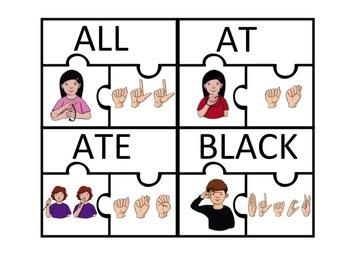 ASL: Sight Words Puzzle- Set 2