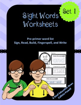 ASL: Sight Words Worksheet
