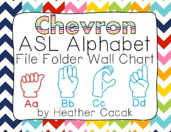 ASL Sign Language Alphabet Wall Chart - Chevrons