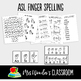 ASL Sign Language Finger Spelling Worksheets