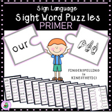 ASL Sign Language Sight Word Puzzles PRIMER