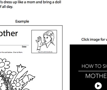 ASL, Sign Language Teacher's Lesson Plan for Mother's Day