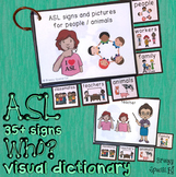 ASL (Sign Language) Who? People and Animals Flashcard Dictionary