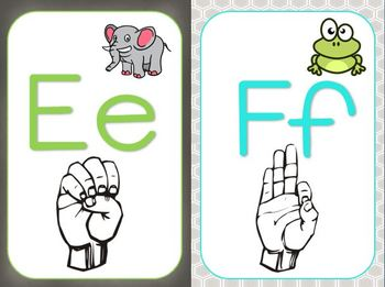 ASL Sign Language cards for the classroom