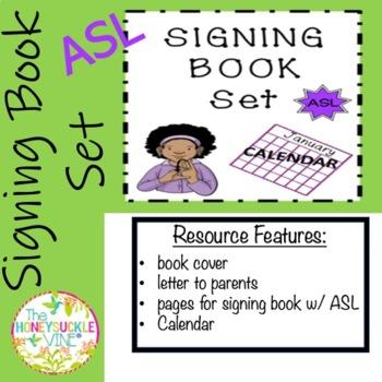 ASL Signing Book Set Calendar