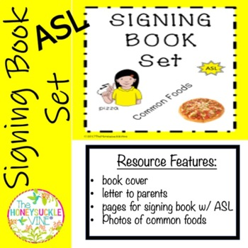 ASL Signing Book Set Common Foods