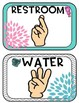 ASL Signs for Classroom Management  Editable (Blooming Blossoming flower)