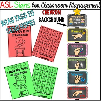 ASL Signs for Classroom Management  (chevron)