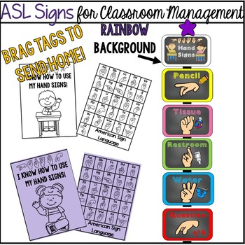 ASL Signs for Classroom Management  (rainbow)