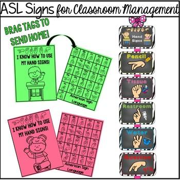 ASL Signs for Classroom Management  (zebra)