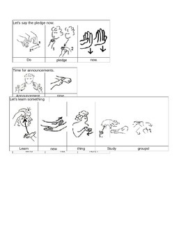 ASL Signs for School