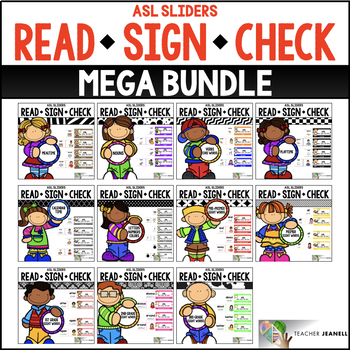 ASL American Sign Language Sliders MEGA BUNDLE - Read, Sign, and Check