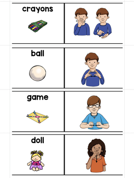 ASL American Sign Language Sliders Playtime - Read, Sign, and Check