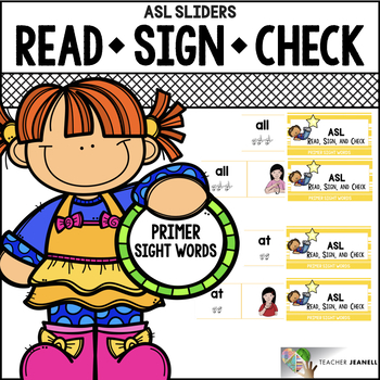 ASL Sliders Primer Sight Words - Read, Sign, and Check