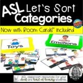 ASL Category Sort // Print and Digital Boom Cards™
