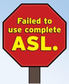 ASL Stop Sign poster