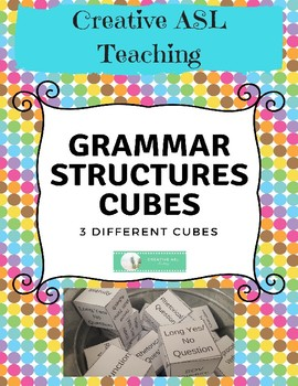 ASL Structures/Grammar Review Cubes - American Sign Language