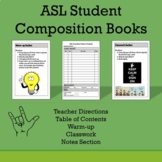 ASL Student Composition Books