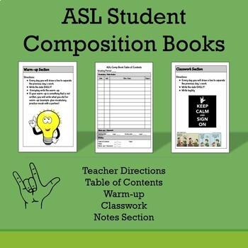ASL Student Composition Books