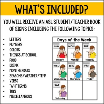 ASL Student-Teacher Dictionary for Special Education