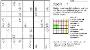 ASL Sudoku Worksheets