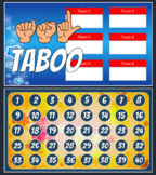 ASL Taboo (American Sign language)-PowerPoint with signed vocab.