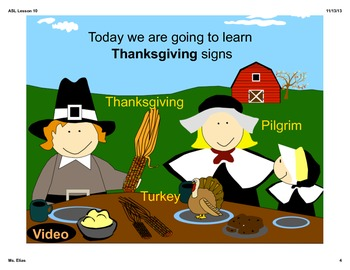 ASL Thanksgiving Lesson