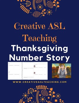 ASL Thanksgiving Number Story and Activities