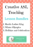 ASL Themed Units Bundle - MLK, Holidays, and Winter Olympics