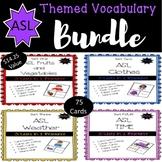 ASL Themed Vocabulary Bundle Sets One-Four