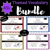 ASL Themed Vocabulary Bundle Sets One-Four