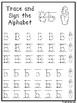 ASL Trace and Sign the Alphabet Worksheets. Preschool Phonics and Handwriting.