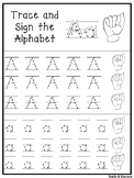ASL Trace and Sign the Alphabet Worksheets. Preschool Phon