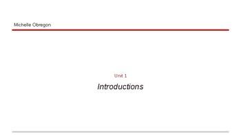 ASL Unit 1 PowerPoint