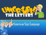 ASL Unscramble The Letters Jeopardy, Pack 1