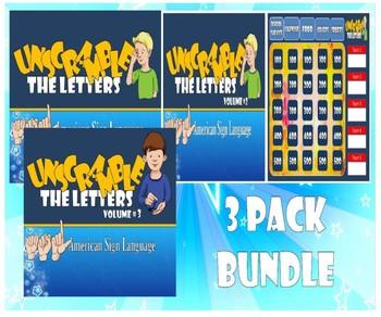 ASL Unscramble The letters Jeopardy Bundle-Money Saver!