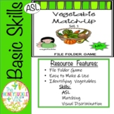 ASL Vegetable File Folder Game