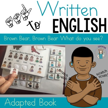 ASL Version- Brown Bear Visual Aid Adapted book