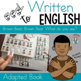 ASL Version- Brown Bear Visual Aid Adapted book