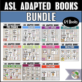 ASL Vocabulary Practice Books - ASL Adapted Books Bundle